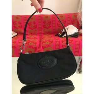 Vintage Prada Black Shoulder Bag
